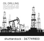 drilling rigs and oil pumps... | Shutterstock .eps vector #367749803