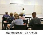 an adult education teacher in...   Shutterstock . vector #3677500