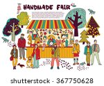 art hand made fair toys in park ...   Shutterstock .eps vector #367750628