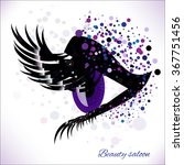 vector eye with make up and... | Shutterstock .eps vector #367751456