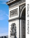 arc de triomphe in paris ... | Shutterstock . vector #367754216