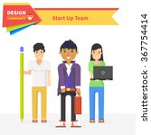 start up team design community. ... | Shutterstock .eps vector #367754414
