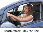 woman singing in car | Shutterstock . vector #367754720