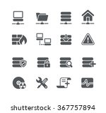 network and server icons   ... | Shutterstock .eps vector #367757894