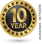 10 year warranty golden label ... | Shutterstock .eps vector #367763240
