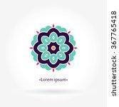 logo for flower shop  interior. ... | Shutterstock .eps vector #367765418