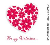 valentines heart card with... | Shutterstock .eps vector #367766960