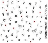 seamless pattern. hearts... | Shutterstock .eps vector #367771046