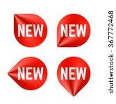 new labels. vector. | Shutterstock .eps vector #367772468
