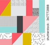geometric background in retro... | Shutterstock .eps vector #367772888