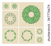 vector floral elements. vector... | Shutterstock .eps vector #367776674