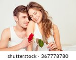 happy cute couple in love at... | Shutterstock . vector #367778780