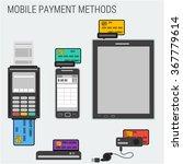 vector banking payment methods...   Shutterstock .eps vector #367779614