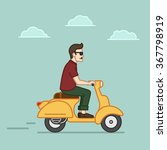 illustration of a handsome... | Shutterstock .eps vector #367798919