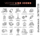 thin line icons set. business... | Shutterstock .eps vector #367807238