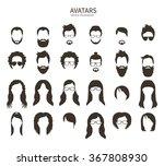set of monochrome icons.... | Shutterstock .eps vector #367808930