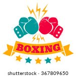 vintage logo for a boxing on...   Shutterstock .eps vector #367809650