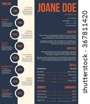 modern resume cv curriculum... | Shutterstock .eps vector #367811420