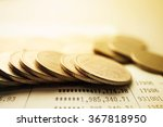 rows of coins and account for... | Shutterstock . vector #367818950