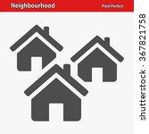 neighbourhood icon.... | Shutterstock .eps vector #367821758