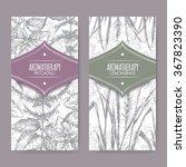set of 2 labels with lemongrass ... | Shutterstock .eps vector #367823390