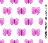Pink Butterfly Seamless Patter...