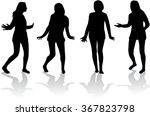 dancing silhouette of a woman. | Shutterstock .eps vector #367823798