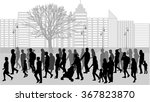 group of people. crowd of... | Shutterstock .eps vector #367823870