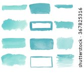 set of watercolor stains.... | Shutterstock . vector #367825316