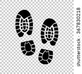 shoe print    black vector icon | Shutterstock .eps vector #367830218