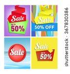 sale poster   set of... | Shutterstock .eps vector #367830386