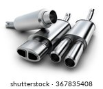 exhaust pipe on isolated... | Shutterstock . vector #367835408