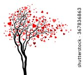 Love Tree With Heart Leaves