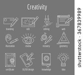 vector set of icons about... | Shutterstock .eps vector #367839989