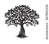 black tree. vector illustration. | Shutterstock .eps vector #367842356