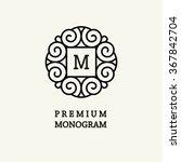 elegant line art logo and...   Shutterstock .eps vector #367842704
