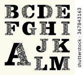 Elegant Capital Letters Set 1...