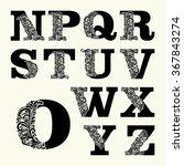 elegant capital letters set 2... | Shutterstock .eps vector #367843274