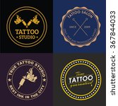 set of logos with a tattoo... | Shutterstock .eps vector #367844033