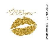 illustration imprint of a kiss...   Shutterstock .eps vector #367852010