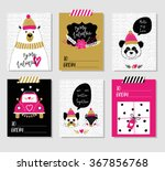 love collection with 6 cards.... | Shutterstock .eps vector #367856768