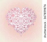 ornate vector heart in line art ... | Shutterstock .eps vector #367859876