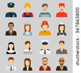 professions vector flat icons.... | Shutterstock .eps vector #367863800