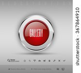 red and gray glossy button with ...