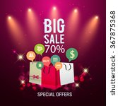 big sale promo department store ... | Shutterstock .eps vector #367875368