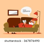 relaxed old man with white... | Shutterstock .eps vector #367876490