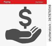 paying icon. professional ... | Shutterstock .eps vector #367878548