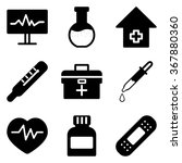 set of black medical icons. | Shutterstock .eps vector #367880360