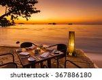 Romantic Sunset On The Shore O...