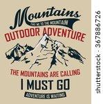 mountain illustration  outdoor...   Shutterstock .eps vector #367886726